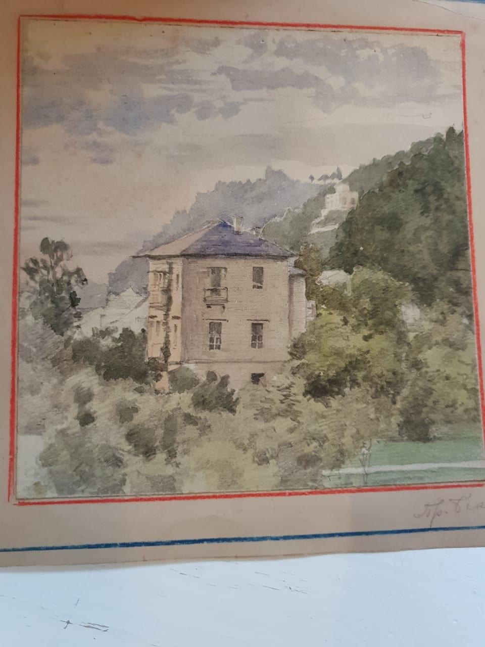 8d5bfee0131 Купить акварель художника Николая Николаевича Беккера начала XX-го века